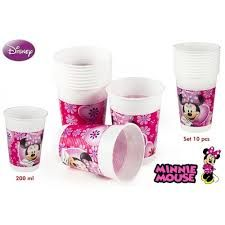 PACK 10 VASOS MINNIE