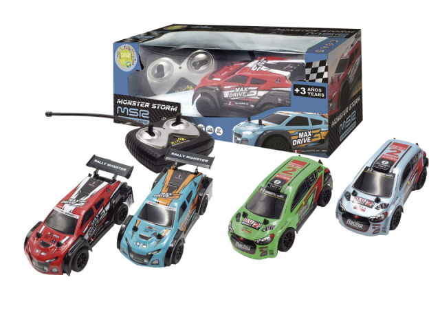 COCHE R/C RALLY STORM RACING 1:26 27MHZ