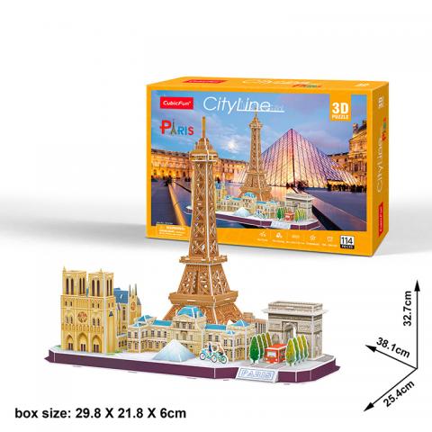 PUZZLE 3D PARIS CIUDAD LINEAL CUBIC FUN